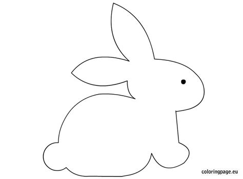 bunny template bunny craft template coloring page