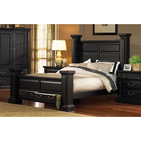 classic black  piece queen bedroom set torreon rc