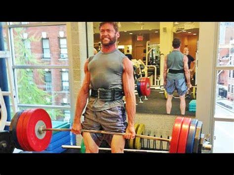 bob hoskins vs hugh jackman as wolverine the hugh jackman workout deadlift 2014
