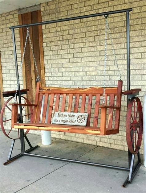 wagon wheel porch swing 12 best firewood storage ideas images on pinterest