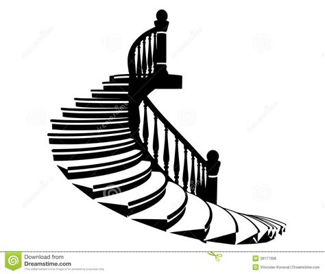 eps format to dwg vector silhouette stairs stock vector image 39177306