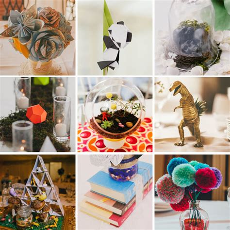 alternative wedding centerpieces 30 non traditional non floral centrepiece ideas for your