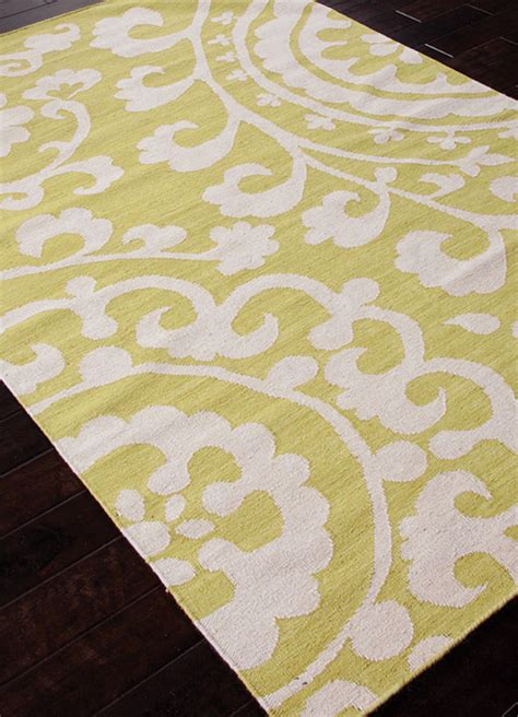 Flat Woven Area Rugs And Banks And Banks Flat Weave Abr0471 Lime Area Rug Clearance 81859
