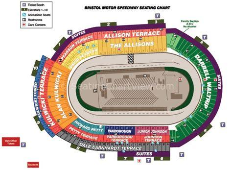 seating capacity motor speedway bristol motor speedway bristol tn seating chart view