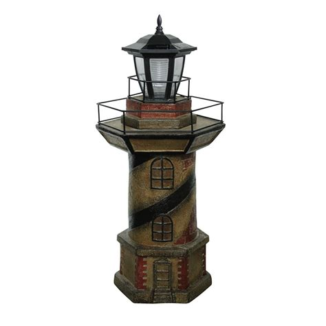 statue with solar light quot lighthouse quot statue with solar light rona