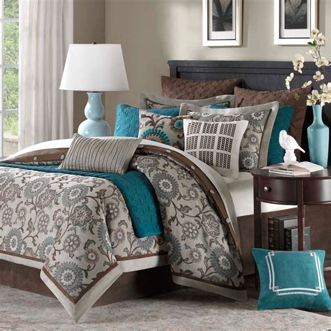 grey bedroom with teal accents 22 beautiful bedroom color schemes decoholic
