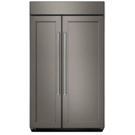 What Is A Panel Ready Refrigerator by Kitchenaid Kbsn608epa 48 Inch Width Panel Ready Built In