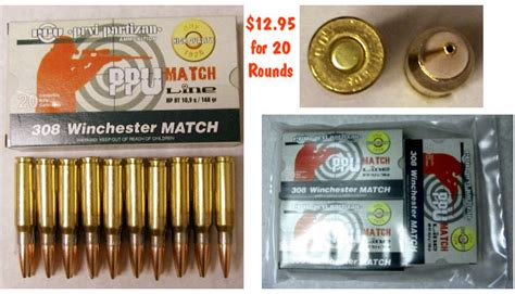 low cost prvi partizan 308 match ammo 171 daily bulletin
