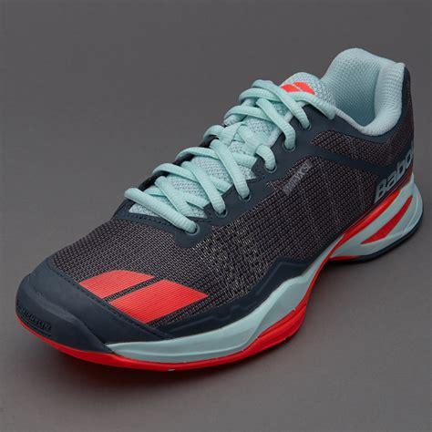 Sepatu Merk Babolat sepatu tenis babolat original jet team all court grey blue