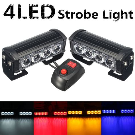 red led vehicle warning lights купить car lights mz 95cm cable 12w 4 led waterproof red