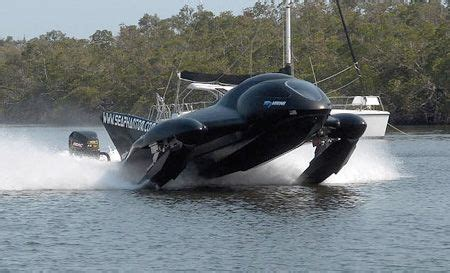 mini jet boat crash feature futuristic watercraft looks like powerboat is