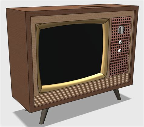 Mid Century Modern Architecture by 3d Print Your Own Retro Style Working Miniature Television