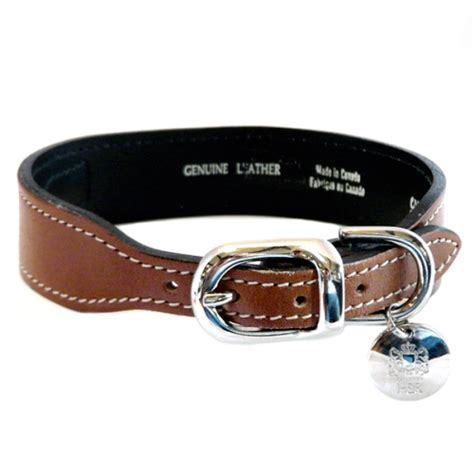 puppy collars and leashes gucci poochie italian leather collar rich brown hartman and collars and leashes