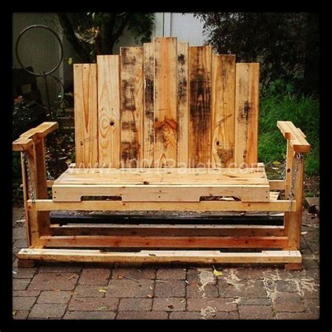 bench made from wooden pallets swinging bench from pallet wood 1001 pallets recycled upcycled