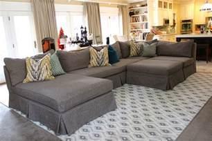 Stretch Chair Slipcover Inspiring Custom Homemade Slipcovers For Grey Sectional