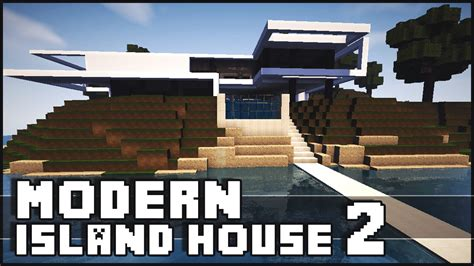 minecraft island house minecraft modern island house 2 youtube