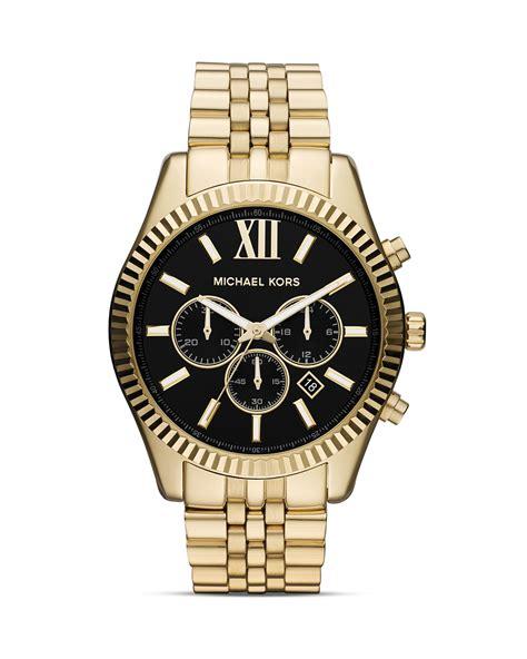 michael kors s gold tone chronograph