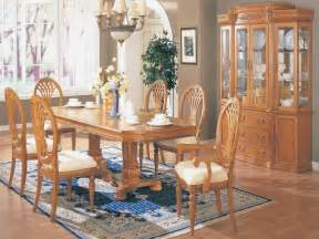 dining room rustic traditional oak dining room set oak