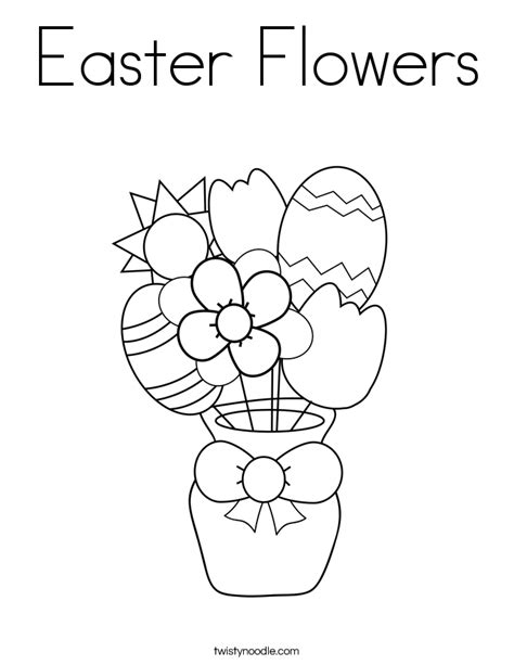 free coloring pages of easter flowers easter flowers coloring page twisty noodle
