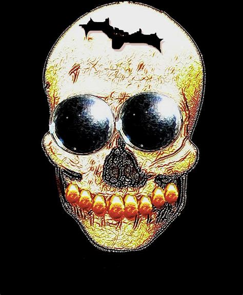 Bizarre Home Decor skull art in a surrealism definition mixed media by pepita