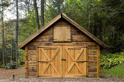 log barn plans how to build a sloped shed roof