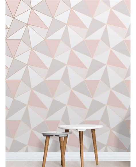 Large Wall Murals Uk apex geometric wallpaper rose gold fine decor fd41993