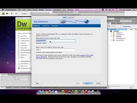 tutorial adobe dreamweaver cap 1 crearsitio avi youtube crear pagina web dreamweaver cs4 bien explicado vos
