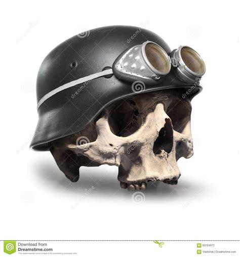 skull with helmet stock photo image 60164972