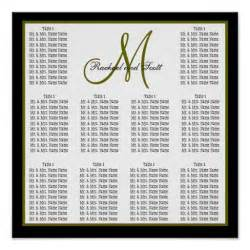 wedding seating charts template template wedding seating chart monogram names poster zazzle