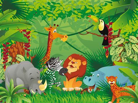 imagenes de animales y plantas de la selva fotomural de vinilo con animales en la selva