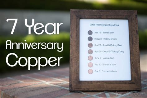 7 year anniversary present copper project anniversary gifts anniversaries year