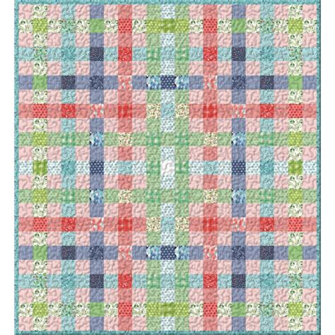 One Fabric Quilt Pattern by Prairie Plaid Kit One Canoe Two Moda Fabrics