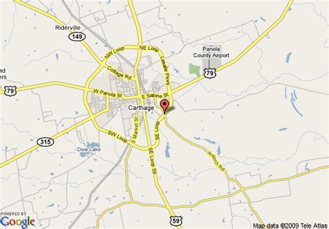 map of carthage texas map of inn express hotel suites carthage carthage