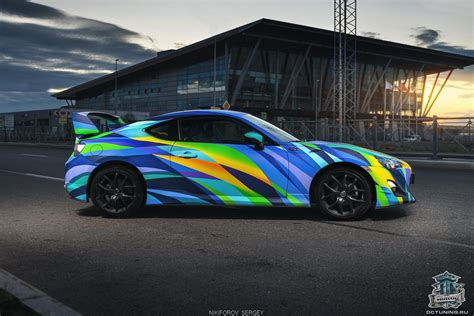 colorful cars colorful toyota gt86 car wrap design