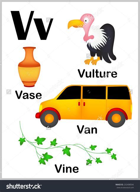 5 Letter Words That Start With V v words clipart