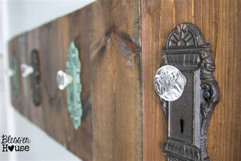 diy antique door knob towel rack