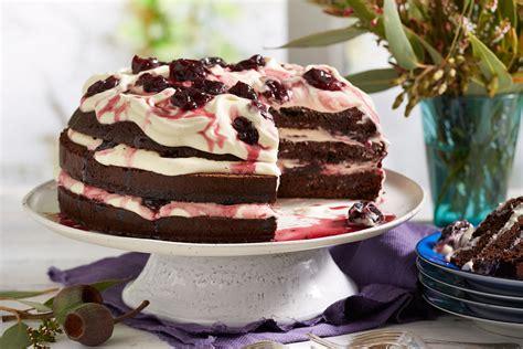 decadent black forest cake recipe recipe  homes