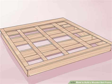 build wooden bed frame 3 ways to build a wooden bed frame wikihow