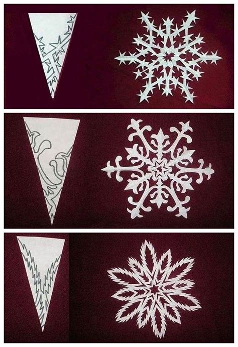 Make Paper Snowflakes Patterns - snowflake cutouts diy beautiful snow and