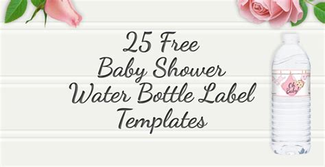 free water bottle labels for baby shower template free printable 25 baby shower water bottles labels