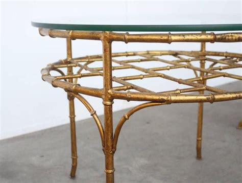 faux bamboo table l vintage faux bamboo side chair table for sale at
