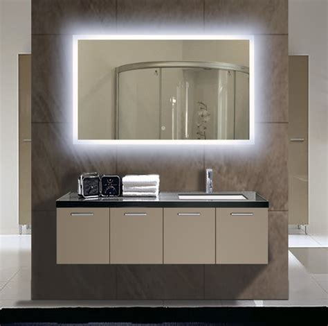 bathroom vanity wall mirror lighted vanity mirror wall mount ideas the homy design