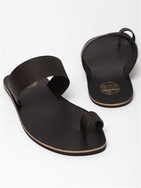 acne mens leather agra sandals in black for lyst