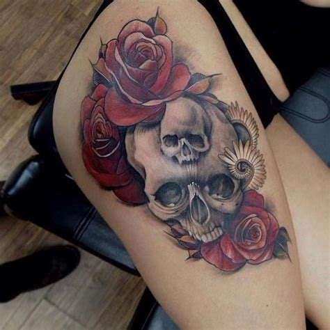 tattoo skull and roses meaning 80 frightening and meaningful skull tattoos nenuno creative