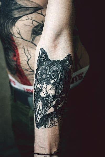quarter sleeve wolf tattoo lone wolf tattoo sleeve google search tattoos