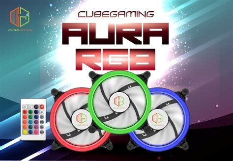 Cube Gaming Aura Rgb 3xdouble Ring Fans Wireless Remote jual cube gaming aura rgb ring fans 3 pcs ring fan
