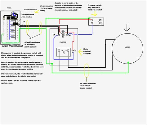 wiring 220 air compressor pressure switch wiring diagrams