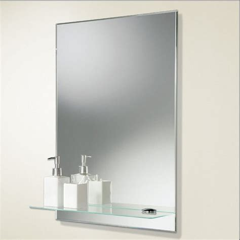 Bathroom Shelf With Mirror Chrome Bathroom Mirrors Bathroom Mirrors With Shelves Wall Shelves And Bathroom Cabinets