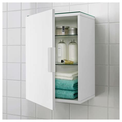 Ikea Bathroom Cabinet Storage Godmorgon Wall Cabinet With 1 Door White 40x32x58 Cm Ikea
