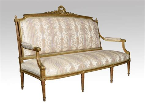 three seater settees french louis xvi style giltwood three seater settee